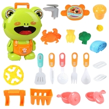 FBIL-детский мультяшный рюкзак через дом чемоданы игрушки доктор кухня инженерные косметические игрушки набор лягушка изысканные игрушки