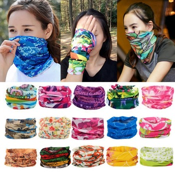 Cycling Mask Outdoor Sports Magic Head Scarf Printing Headband Bike Wrist Band Bandana for Windproof Sunscreen Bike Masks