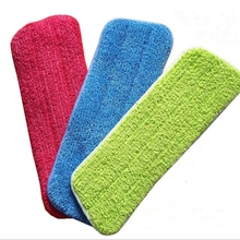 Microfiber Cleaning Pads Foldable Reusable Pasted Flat Mops Cloths/Pads Home Washable Replaceable Mop Head Accessories