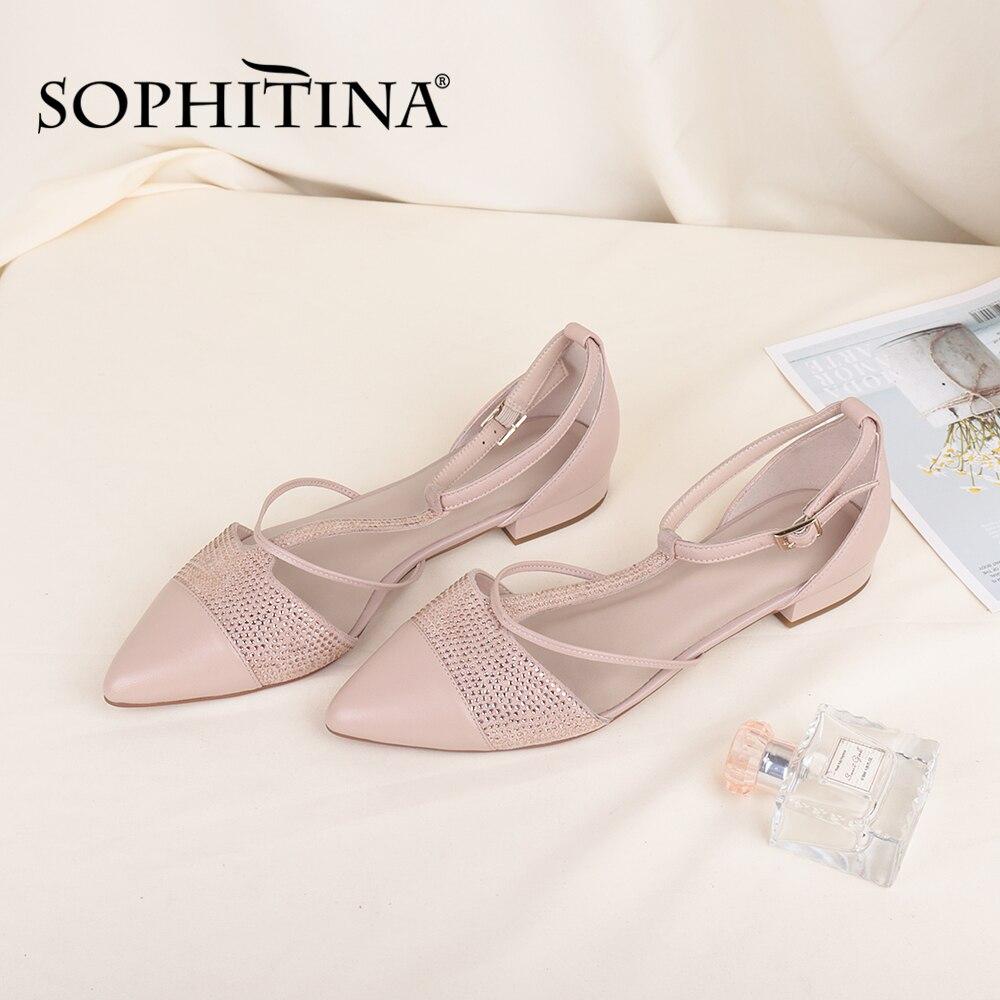 Купить sophitina/женская обувь на плоской подошве с т образным ремешком