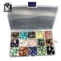 Пятнадцать видов натуральных кристаллов и драгоценных камней, кварц, минеральные камни, Декор для дома