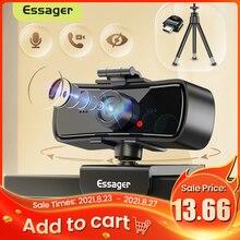 Essager C3 1080P Webcam 2K Volle HD Web Kamera Für PC Computer Laptop USB Web Cam Mit Mikrofon autofokus Webkamera Für Youtube