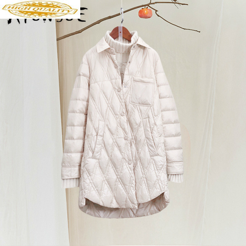 Winter Coat Women White Duck Down Jacket Women Clothes 2019 Koean Fashion Puffer Jacket Women Warm Parka 19092707 YY2060