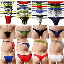 4/6/8PCS Sexy Mens Underwear Modal T-back Thongs G-string Exotic Jockstrap Tangas Mens Brie