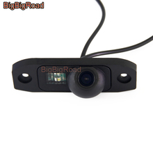 BigBigRoad Car Rear View Camera For Volvo S40 S60 S80 V60 S80L S60L S40L V70 XC70 XC 70 V40 C70 Parking Camera Night Vision car replacable carbon fiber rearview mirrors for volvo s60 s60l s80l v40 v60 accessories 2014 2015 2016 auto replacement parts