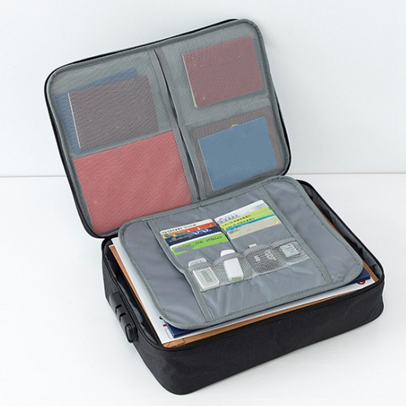 Image 5 - Document Ticket Bag Large Capacity Certificates Files Organizer For Home Travel Use to store Important Items-in File Folder from Office & School Supplies
