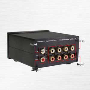 Image 4 - Lusya 4 Ingang 1 Output/1 Ingang 4 Output Twee weg Audio Signaal Switcher Schakelaar Splitter Selector Met rca AC100V 240V L1 002
