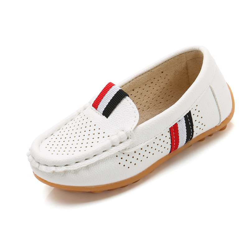 Children Shoes For Boys Loafers Sneakers Baby Soft Kids Shoes Pu Leather Casual Toddler Girls Flats Slip-on Moccasin White Shoes