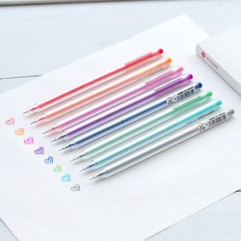 8 Color dibujo pluma mango mate bolígrafo 0,5mm Gel pluma de tinta arte marcador del trazador de líneas para el álbum cuaderno, diario, Bitácora diseño F074