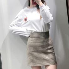 цена на 2020 New Women's Mini Skirts Girls High Waist Korean Version Plaid Skirt Zipper Summer Retro Bud Office Ladies Empire Skirts
