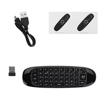 C120 6 Axis Gyro 2.4G Portable Wireless Air Mouse Keyboard Remote Control USB Receiver|Keyboards| |  -
