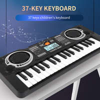 37Keys Electric Piano Children Gift Electric Key Board Piano Portable Digital Music Electronic Keyboard Music Learning Toy
