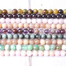 Fashion jewelry 4 / 6 / 8 / 10 / 12mm pink opal Loose beads series suitable for jewelry making DIY Bracelet Necklace