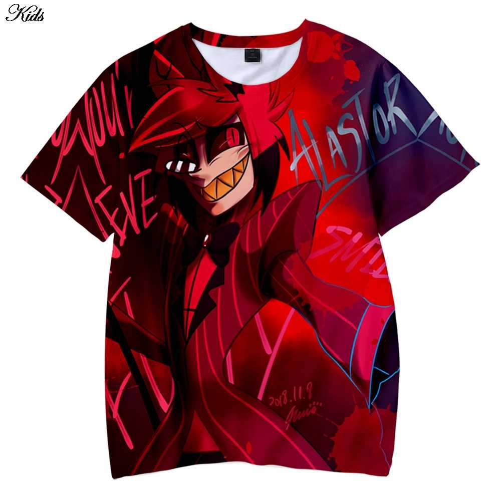 Anime Hotel Hazbin 3D T-shirt Women/Men Cartoon Costume T-shirts Children  Summer Funny Breathable Tees Kids