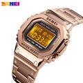 SKMEI herren uhr digitale Sport uhren luxus edelstahl wasserdicht herren armbanduhr countdown wecker männer armband