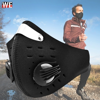 WOSAWE Windproof Anti Dust PM2.5 Motorcycle Sport Face Mask Activated Carbon Half Face Mask Warm Outdoor Ride Bike Ski Mask