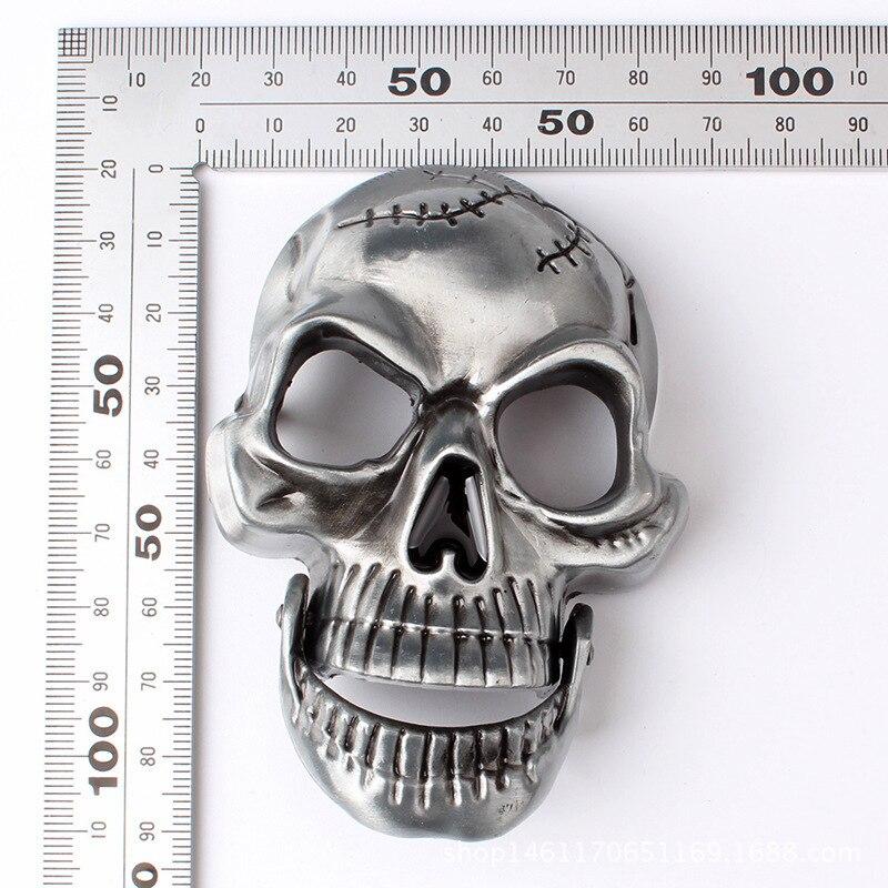 Belt DIY accessories Skull skeleton belt buckle Western cowboy style Smooth belt buckle Punk rock style k18