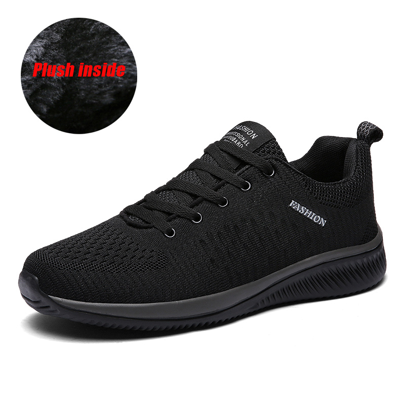 TKN Men Running Shoes Men Winter Plush Warm Lightweight Sneakers 2019 Hot Sale Cheap Male Outdoor Sport Athletic Shoes 9088