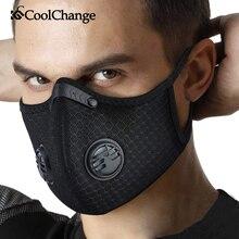 CoolChange רכיבה על אופניים פנים מסכת פחם פעיל עם מסנן PM2.5 נגד זיהום אופני ספורט אבק הגנת אנטי אגל