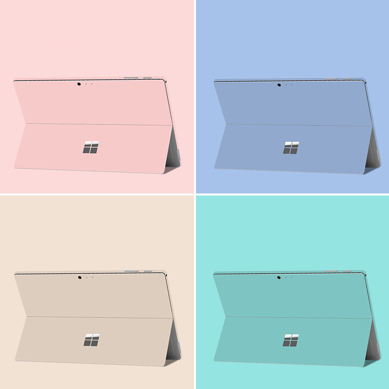 Laptop Stickers Decals for Microsoft Surface Pro 5 6 7 Pro 3 4 Vinyl Skins for Surface Pro X 1876 2020 Back Cover