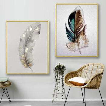 Silver Feather Art Canvas Poster Wall Art Painting Wall Picture for Living Room Decor Poster and Print Modern Home Decoration sleeping sexy model wall art canvas poster and print canvas painting decorative picture modern living room home decor framework