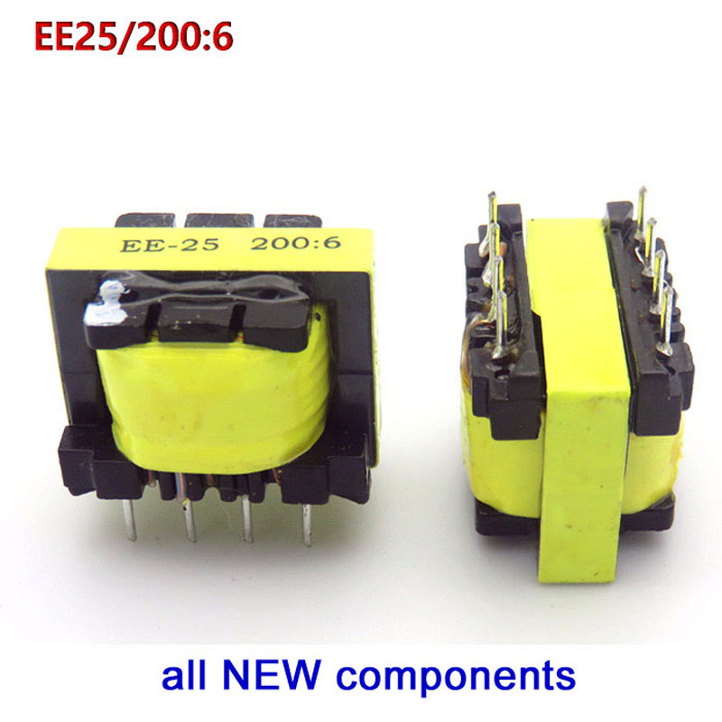 Welding Machine Transformer EE25 200:6 For ZX7/WS/LGK Inverter Auxiliary Power Transformer,High Frequency Pulse,8feet