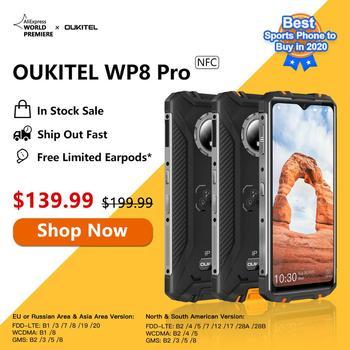 Перейти на Алиэкспресс и купить Новейший OUKITEL WP8 Pro NFC IP68 прочный спортивный телефон мобильный телефон 6,49 ''отпечаток пальца Android 10 4 Гб 64 Гб 5000 мАч 16MP Тройная камера