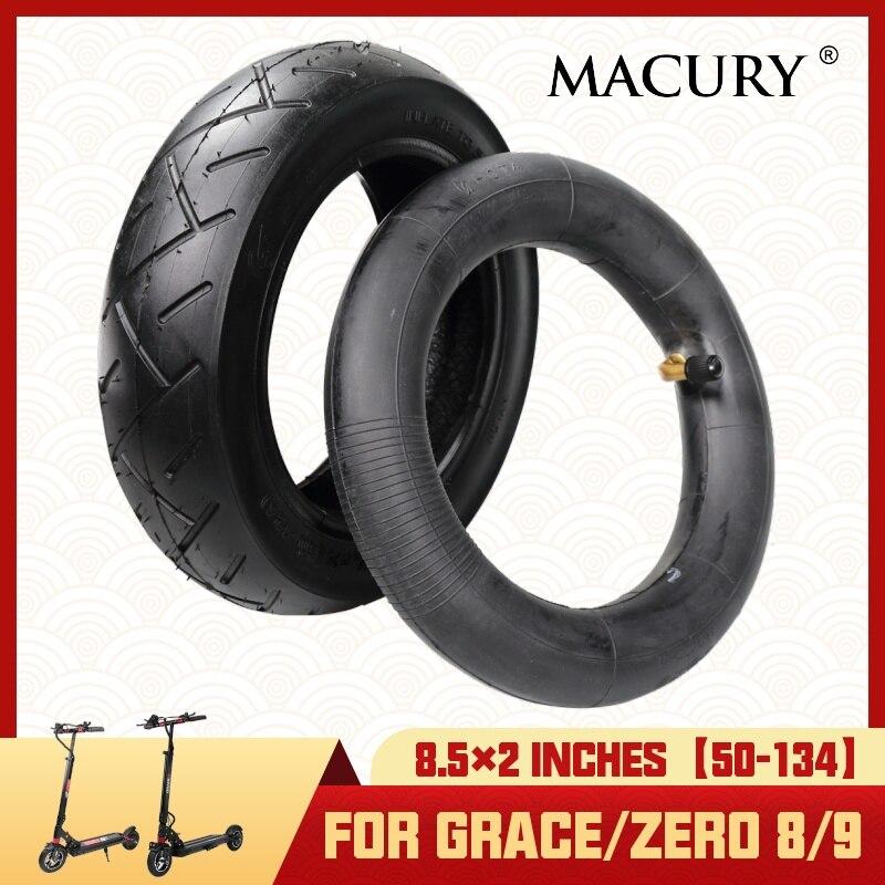 Neumático de 8,5x2 pulgadas y tubo interior para Scooter Eléctrico Grace Zero 8 9 Zero8 Zero9 T8 T9 neumático inflable Marucy de 8,5 pulgadas