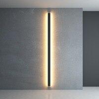 Lâmpada de Parede Moderna minimalista Criativo Longa Simples Sala de estar Do Quarto Fundo Lâmpada de Parede de Cabeceira Lâmpada de Parede Moderna LED Luz