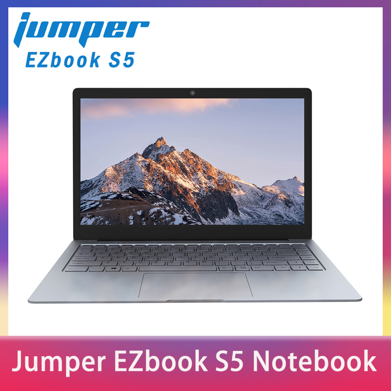 Jumper EZbook S5 14.0 Inch 8GB Ram 256GB SSD CPU N3450 1920*1080 FHD IPS 1.25KG Light 4600mAh Windows 10 Notebook Windows Laptop