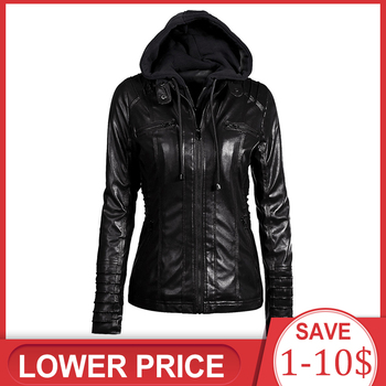 2019 Gothic faux leather Jacket Women hoodies Winter Autumn Motorcycle Jacket Black Outerwear faux leather PU Jacket  Coat HOT women floral print embroidery faux soft leather jacket coat turn down collar casual pu motorcycle black punk outerwear zogaa