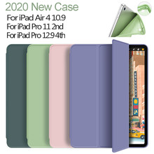 Housse en Silicone pour iPad Air 4 10.9 coque 2020 intelligente Capa pour iPad Pro 11 coque 2nd 2020 Pro 12.9 4th génération étui Funda