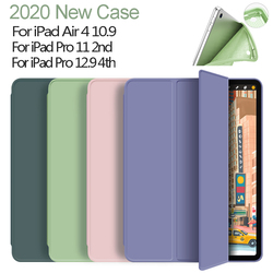 Silicone Cover For iPad Air 4 10.9 Case 2020 Smart Awake Capa for iPad Pro 11 Case 2nd 2020 Pro 12.9 4th Generation Case Funda