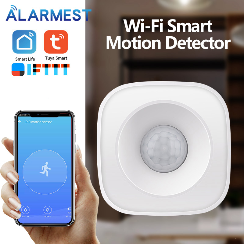 Wireless Motion PIR Sensor Security system Infrared Smart On/Off Lights Work with WiFi Smart Switch|Sensor & Detector| |  - title=