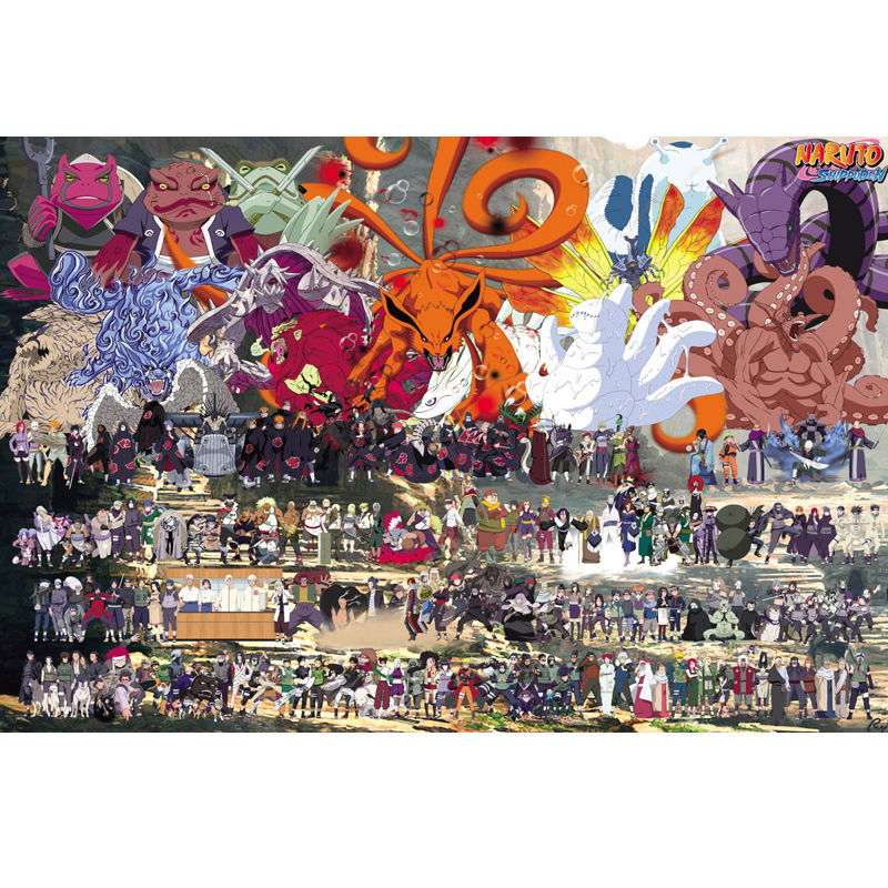 Wooden Puzzle 1000/500/300 Adult Children Decompression Fancy Toy Animation Naruto