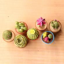 Mini cacto artificial decorativo, realista, planta micro paisagem, miniatura, figurinas decoração em vaso, jardim, casa, diy