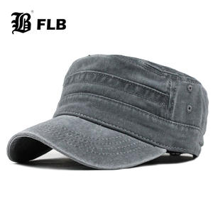 Washed-Caps Hat Vintage Mens Flat-Top New Classic FLB for F314 Fitted Warm Warm