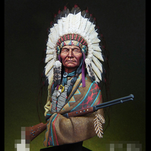 1/12 Resin Model Bust Sioux ChiefLittle Big Horn, 1876 Unassembled and Unpainted Kit