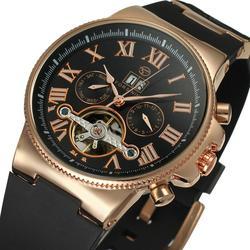 FORSINING Top marka luksusowy męski zegarek na rękę mężczyźni wojskowy zegarek sportowy męski biznes szkielet zegary automatyczne zegarki mechaniczne
