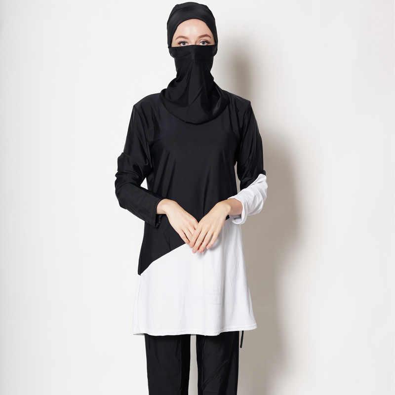 Plus Kích Thước Hồi Giáo Đồ Bơi Nữ Khiêm Tốn In Hoa Che Phủ Toàn Bộ Đồ Bơi Hồi Giáo Hijab Hồi Giáo Burkinis Đi Biển Áo Tắm