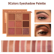 9Colors Eyeshadow Palette Metallic Shimmer Matte Rich Colors Personality Glamour Daily Night Party Lady Eye Eyelid Beauty Makeup