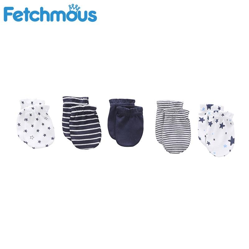 5 пар, перчатки для новорожденных, против царапин, хлопок, царапины, хлопковая перчатка для младенца защита на кроватку новорожденного лица
