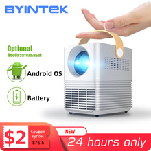 Byintek C720ポータブルフルhd 1080p 3Dビデオホームシアターledミニプロジェクターprojetorビーマー (オプションのアンドロイドos/バッテリー)
