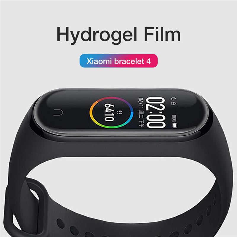 10 pièces pour Xiao mi mi bande 4 Film protecteur d'écran souple pour mi bande 4 Bracelet intelligent accessoires Film de perméabilité plein écran