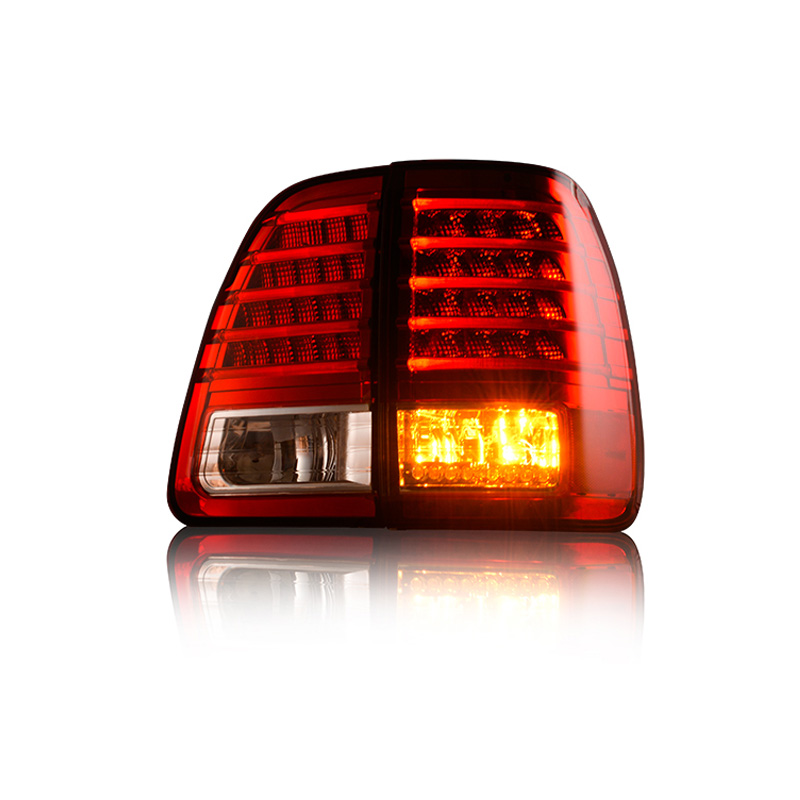 1 комплект для Toyota Land Cruiser LC100 2000 ~ 2007 светодиодный задний фонарь стоп обратный поворот сигнальная лампа дальнего света