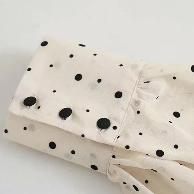 Za Dress Woman 2020 Polka Dot Mini Dress Long sleeve V-neckline Zip fastening White Women's Dresses for Summer 6