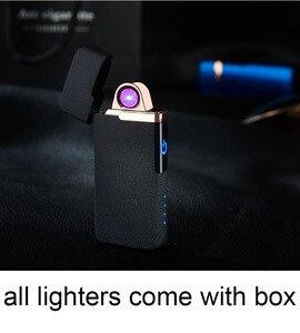 Image 2 - Plasma USB Leichter Touch senstive Schalter Leichter Zigaretten Für Rauchen Ciga Elektronische Leichter Gravieren Name Super Dünne Lightr