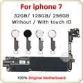 Заводские разблокированные хорошая протестированная материнская плата для iphone 7 4 7 дюймов материнская плата  32 ГБ 128 ГБ 256 с/без сканера отпе...