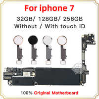 Factory unlocked Good Tested Motherboard for iphone 7 4.7inch motherboard, 32GB 128GB 256GB With/Without Touch ID Logic boards
