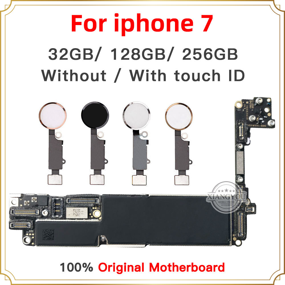 Fabrik entsperrt Gute Getestet Motherboard für iphone 7 4.7 zoll motherboard, 32GB 128GB 256GB Mit/Ohne Touch ID Logic boards-in Handy-Flex-Kabel aus Handys & Telekommunikation bei